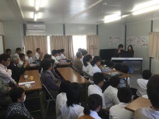 仮設住宅集会所でのカフェ・コンサート.JPG